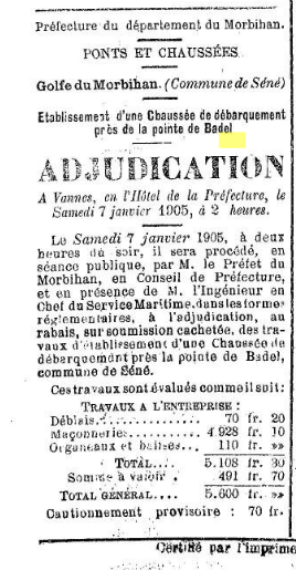 3R LAURENT 1904 Badel adjudication