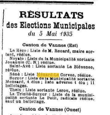 3R MEANRD 1935 réélection