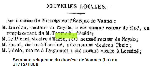 1868 JOURDAN nomination Séné