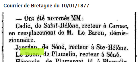 1877 JOURDAN nomination Ste6helène
