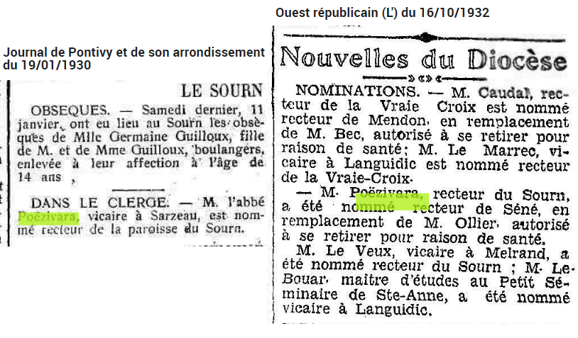 1930 POEZIVARA nomination Le Sourn Séné