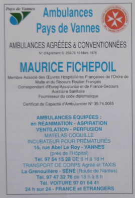 1987 01 FICHEPOIL ambulances